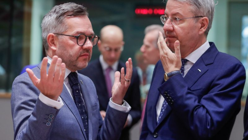 UE German Minister of State for Europe Michael Roth (L) and George Ciamba, Romanian Minister Delegate for European Affairs at the start of a EUl in Brussels, Belgium, 19 March 2019. EPA-Eh_55065377-800x450
