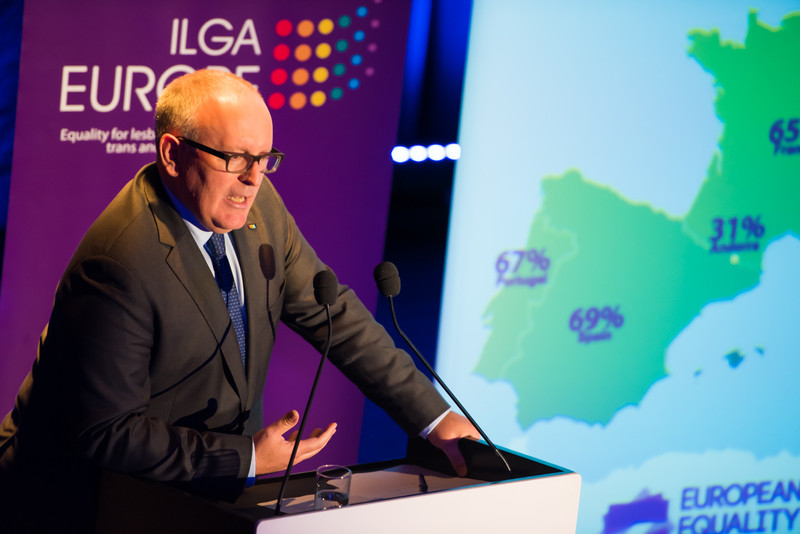 UE Timmermans 'There is no reason for homophobia. There is no reason to discriminate' (Photo ILGA-Europe)1548fad0091674cdedfc3ed366b3c27e-800x