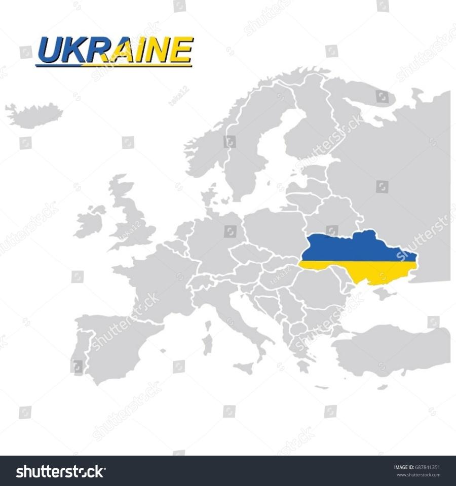 ukraine stock-vector-eu-and-europe-map-with-ukraine-flag-vector-687841351