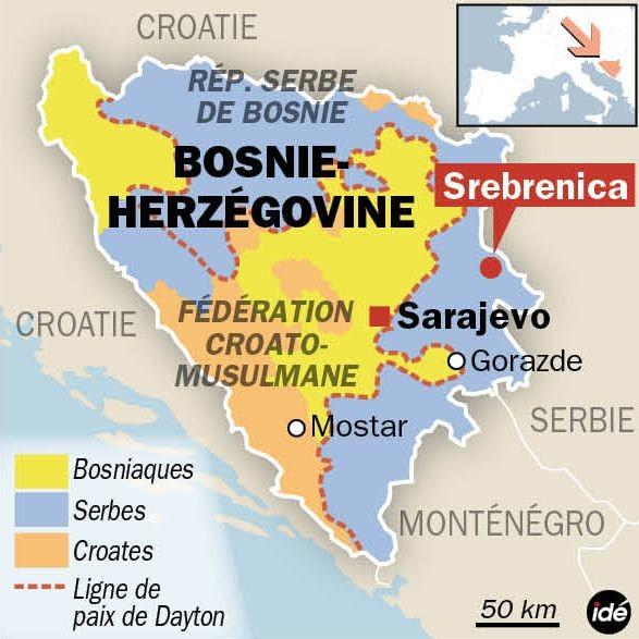 yougoslavie Carte-Srebrenica