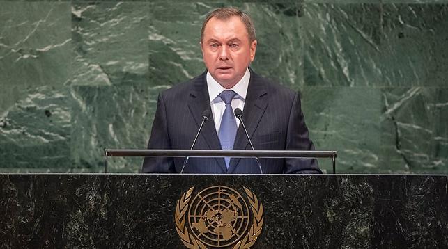 BELARMUS Le ministre des Affaires étrangères du Bélarus Vladimir Makeï kei OON_0_0