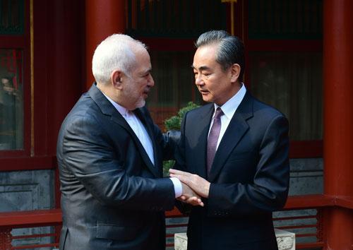 chine iran rencontre entre le Conseiller d'État et Ministre des Affaires étrangères Wang Yi et le Ministre des Affaires étrangères iranien Zarif W020190222353842004875