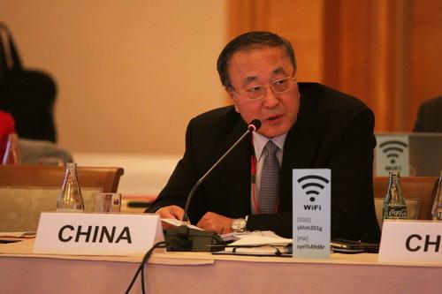 chine Ministre assistant chinois des Affaires étrangères Zhang Jun W020190508357466216555