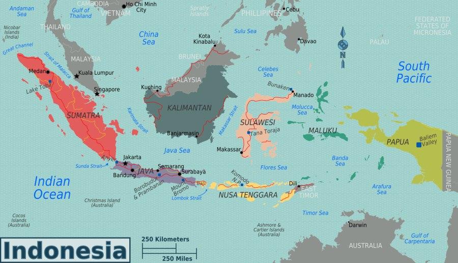 INDONESIE carte-regions-indonesie