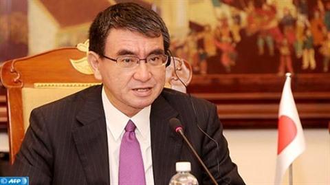 JAPON Le ministre japonais des Affaires étrangères, Taro Kono.1514257771