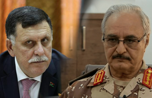 LIBYE Sarraj-Haftar