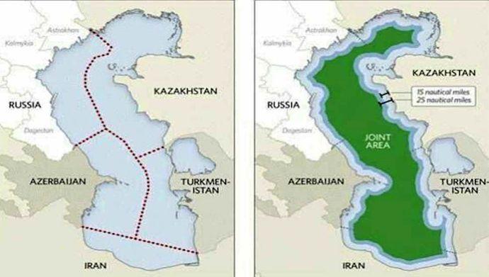 MER CASPIENNE ACCORD 2018 La nouvelle répartition de la Mer Caspienne imagefr.mojahedin.org