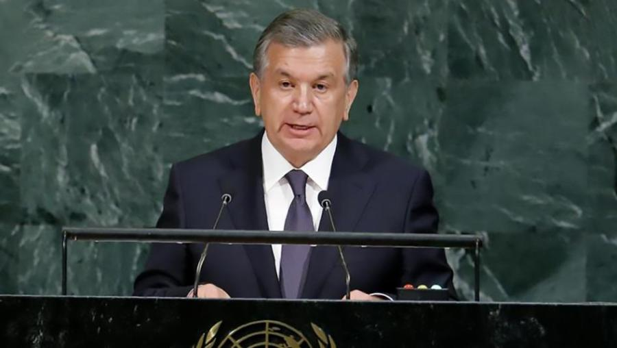 OUZBEKISTAN Président de l'Ouzbékistan Shavkat Mirziyoyev. 201801wr_uzbekistan_human_rights