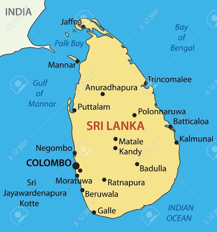 Sri Lanka 22024822-democratic-socialist-republic-of-sri-lanka-vector-map