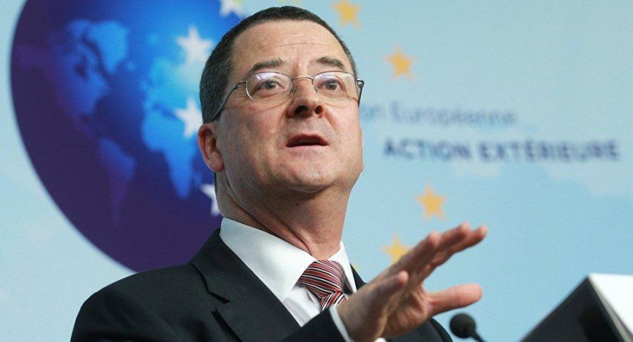 SUISSE M. Yves Rossier, l'ambassadeur suisse à Moscou.1025267117