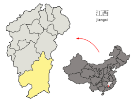 chine 280px-Location_of_Ganzhou_Prefecture_within_Jiangxi_(China)