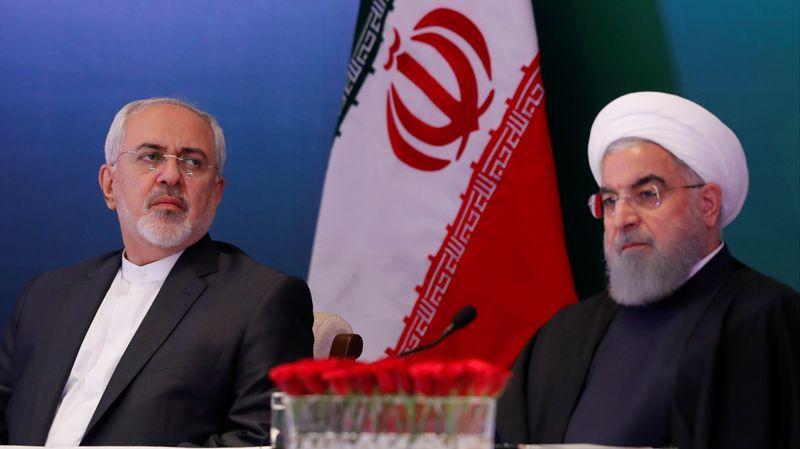 IRAN Rohani et son ministre des affaires étrangères, Mohamad Javad Zarif. 9510785.image