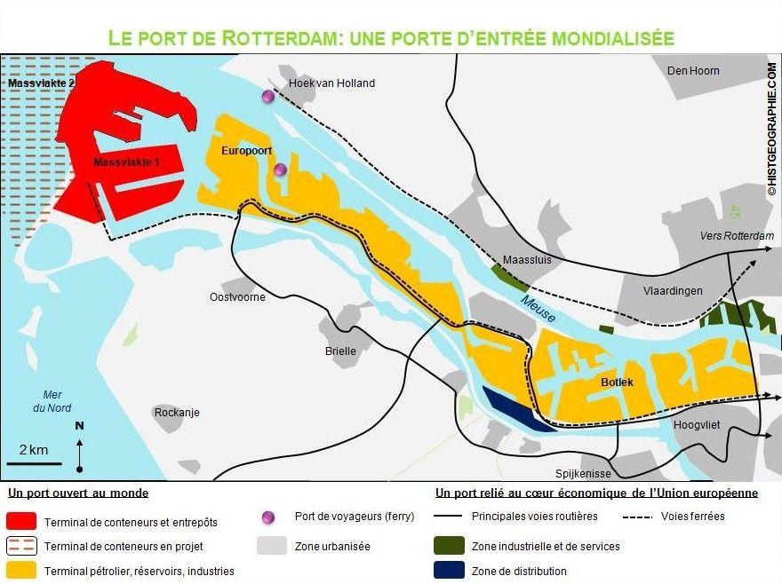 PAYS BAS Le port maritime de Rotterdam 96646333bc325209fa647b1ce7766ac1