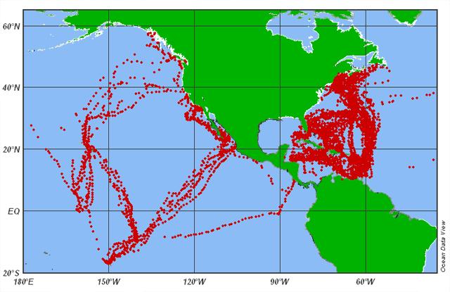 plaque_dechets_pacifique 2011 Carte indiquant l'emplacement où les débris marins en plastique ont été collectés par les navires de la SEA– Photo SEA