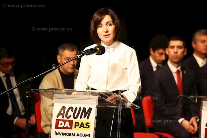 ROUMANIE Maia Sandu, la prezentarea angajamentelor ACUM Șansa noastră de a învinge q