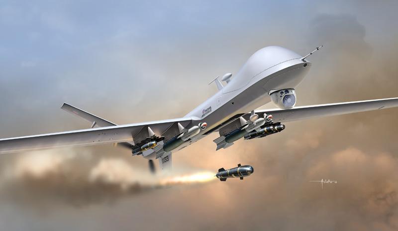 USA Le drone MQ9 Reaper1320-ArtworkLR Le drone MQ9 Reaper