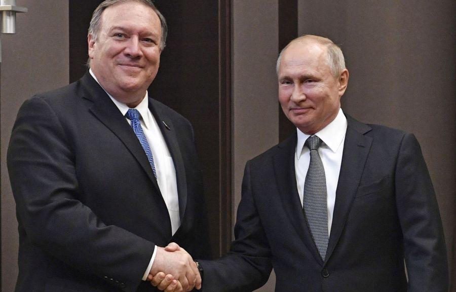 USA RUSSIE Le secrétaire d'État américain Mike Pompeo a été reçu par le président russe Vladimir POUTINE image