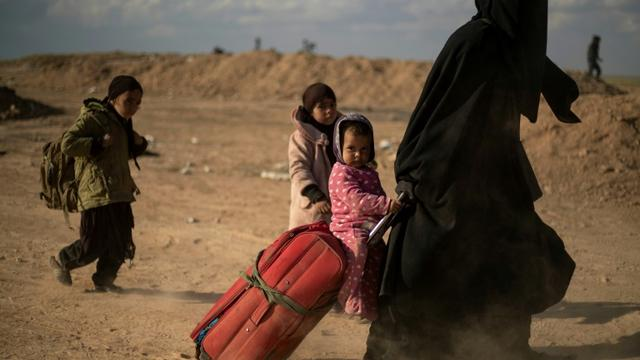 DAESH En quelques jours, plus de 7.000 personnes, principalement des femmes et des enfants ont fui la poche jihadiste dans le village de Baghouz.89cda34499d37a9a488654a8838499511cf1d754