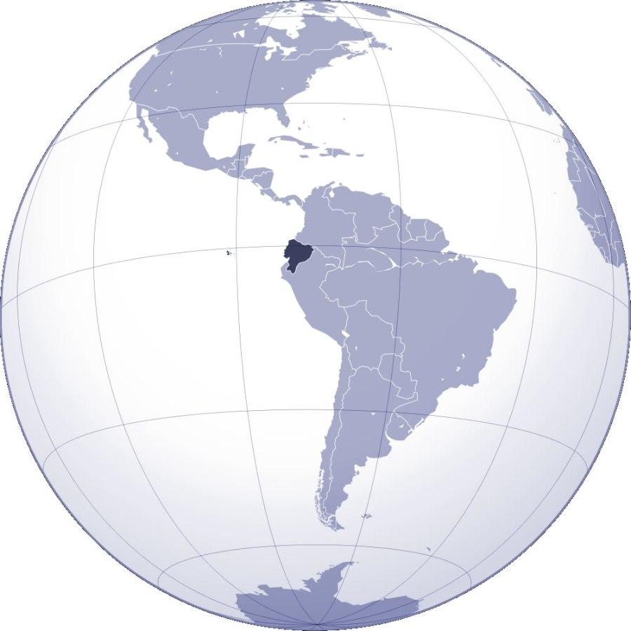 EQUATEUR localiser-equateur-sur-carte-du-monde