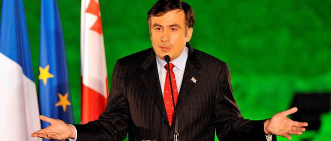 GEORGIE Le president georgien Mikheil Saakachvili en 2008 a Tbilissi.9587515lpw-9591273-article-georgiarussiaconflict-jpg_4454764_660x281
