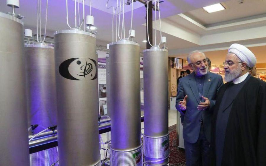 IRAN Le 9 avril2019 président Hassan Rohani lors de la « journée du nucléaire » à Téhéran. AFP.Présidence iranienneTUDK4GL4LWIJF25IDDSXWAB3PA