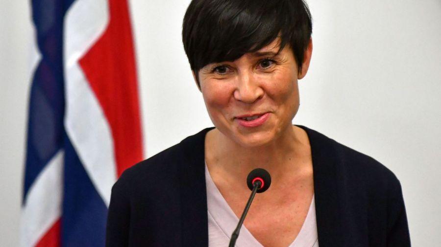 NORVEGE la ministre norvégienne des Affaires étrangères, Ine Eriksen Søreide. - © ELVIS BARUKCIC - 68819547c94a0071c6308665f9884400-1562909149