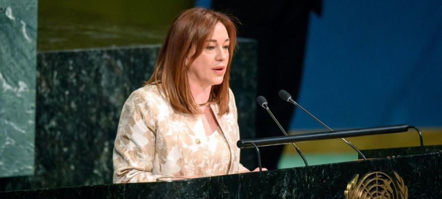 ONU María Fernanda Espinosa Garcés, Ministre des affaires étrangères de l'Equateur, a été élue Présidente de la prochaine session de l'Assemblée générale des Nations Unies image1170x530cropped