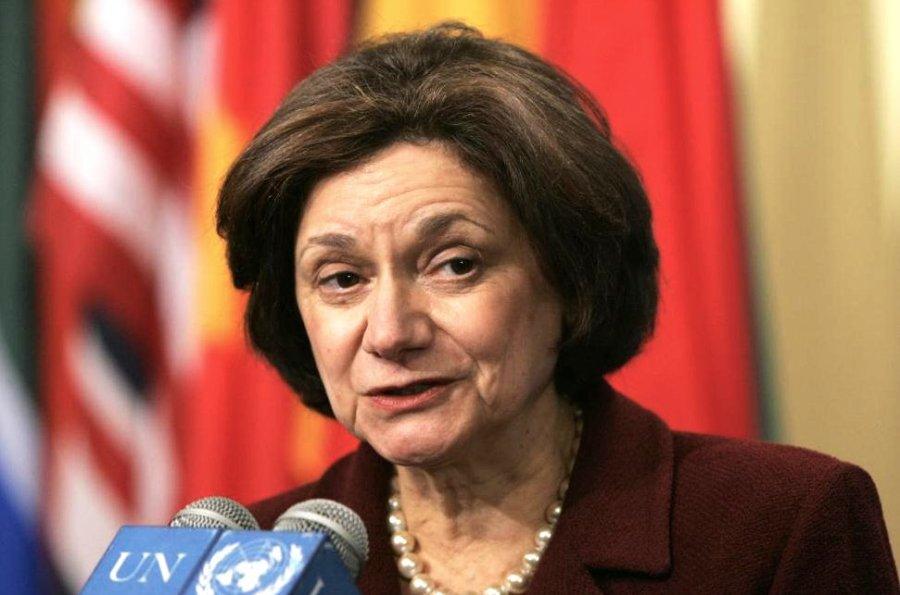 ONU Rosemary Anne DiCarlo est une diplomate américaine qui a été nommée ambassadrice des États-Unis auprès des Nations unies DZd5nRaXUAE_V3Y
