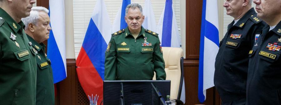 RUSSIE Le ministre de la Défense russe Sergueï Choïgou lors d'une réunion à Severomosk (Russie), le 3 juillet 2019. (VADIM SAVITSKII RUSSIAN DEFENCE MINISTRY . AFP 19637351