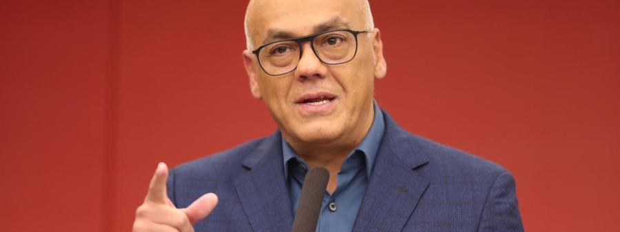 VENEZUELA Le ministre de la communication vénézuelien, Jorge Rodriguez.19593015