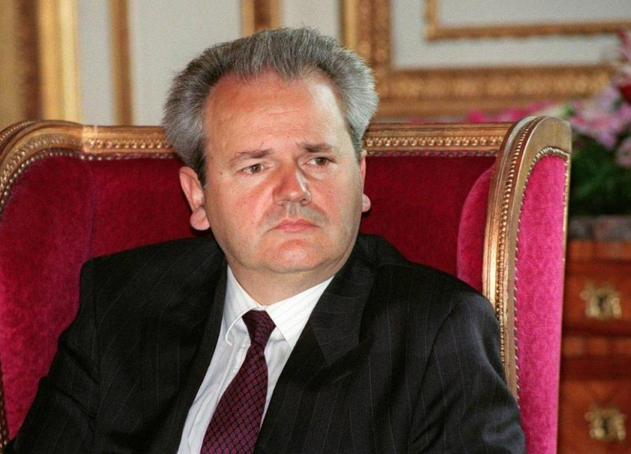 YOUGOSLAVIE Portrait d'archives du président de la fédération yougoslave Slobodan Milosevic lors d'une conférence de presse à Paris le 29 août 1991 à Paris.Part-PAR-SAPA990308287580-1-0-1_field_mise_en_avant_principale_1