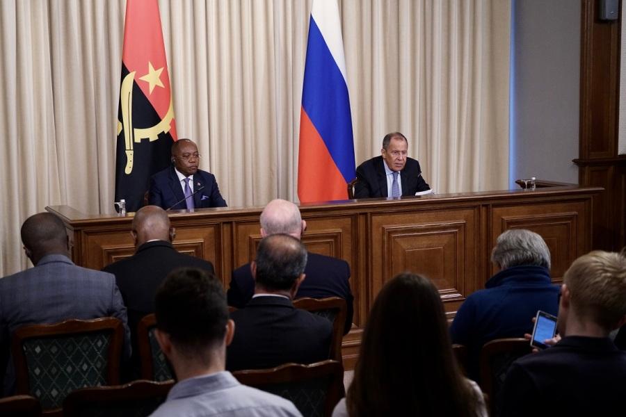 ANGOLA RUSSIE 29.08.2019 Manuel Domingos Augusto, Ministre des Affaires étrangères de la République d'Angola пкф