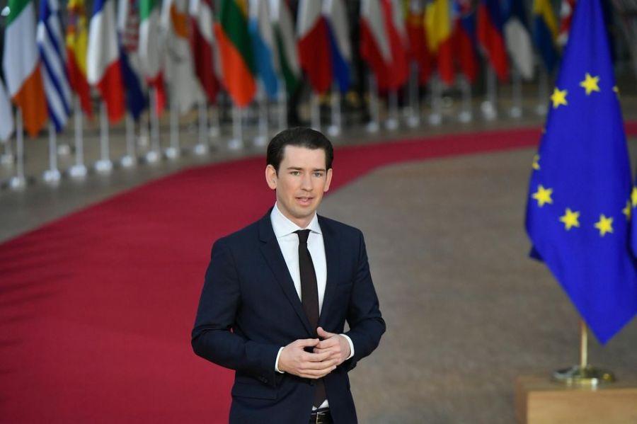 autriche Sebastian Kurz, à Bruxelles en décembre. Photo Emmanuel Dunand. AFP 1222802-000_1bl5f1