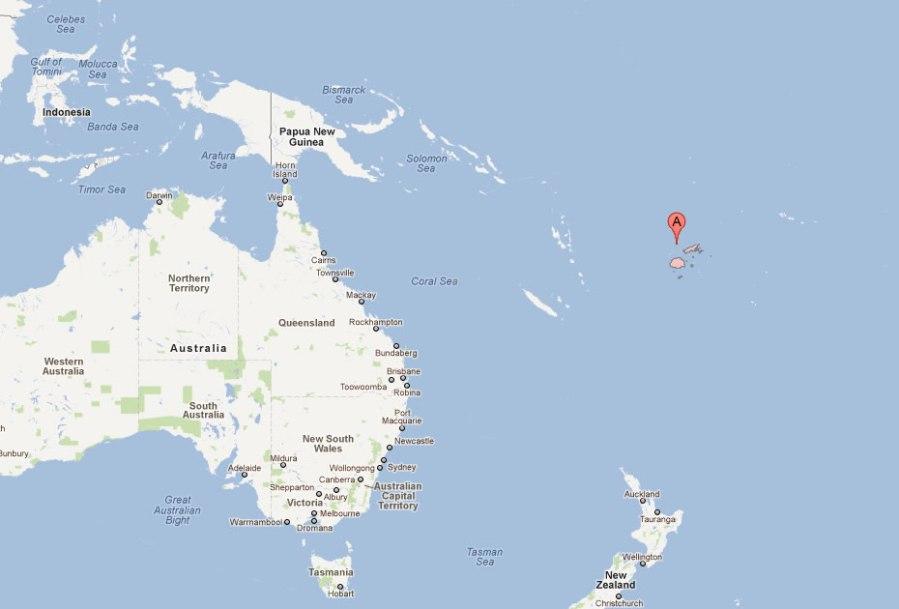 carte du fiji island australie