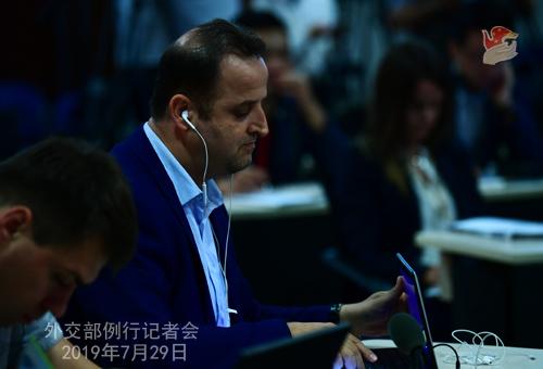 CHINE 3 Conférence de presse du 29 juillet 2019 tenue par la porte-parole du Ministère des Affaires étrangères Hua Chunying W020190801377124977720