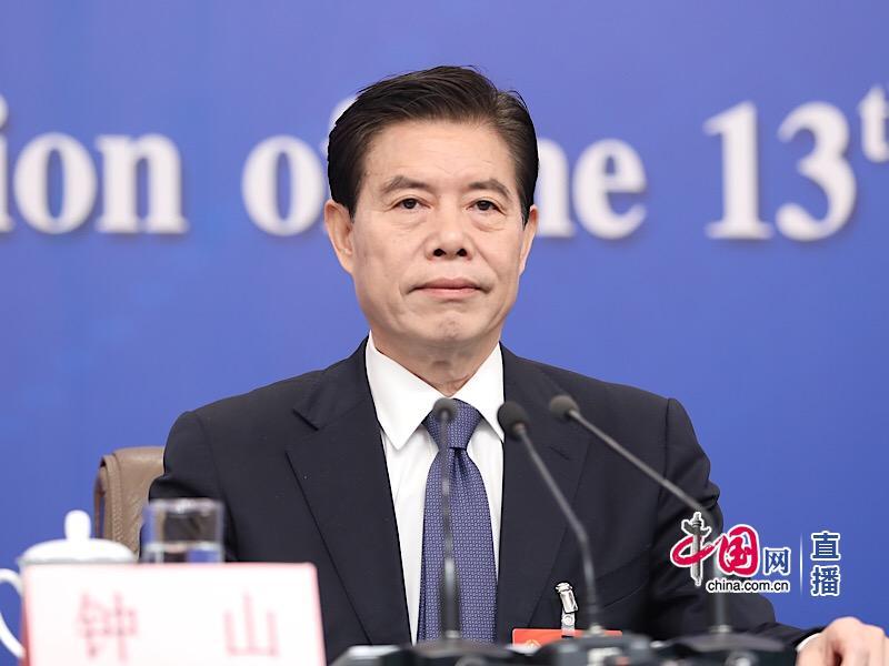 CHINE 885d1a67-b62b-4e9b-b80b-d3da722f13c3 le Ministre chinois du Commerce Zhong Shan