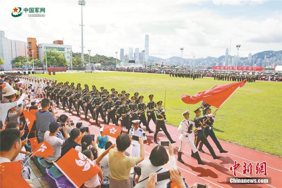 CHINE la garnison de l'APL à Hong Kong. 2017062909340230410