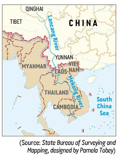 CHINE MEKONG pays du Lancang-Mékong d02788e9b6de189a65121e