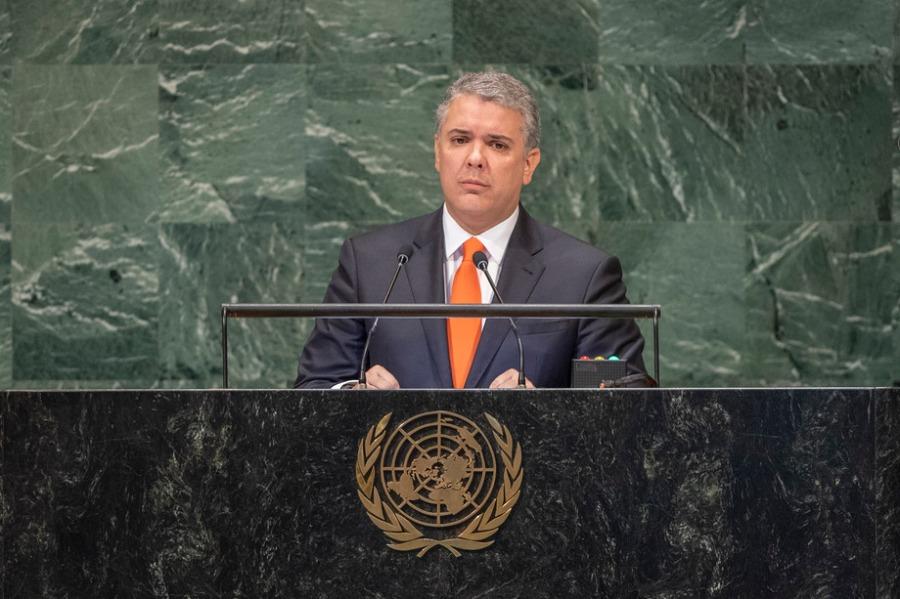 COLOMBIE le Président colombien Iván Duque Márquez 778686