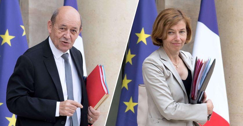FRANCE AFFAIRES ETRANGERES Jean-Yves Le Drian et la Ministre française des Armées Florence Parly le-drian-parly