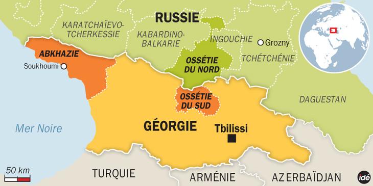 frontière entre la République d'Ossétie du Sud et la Géorgie. L-Europe-joue-toujours-gardes-frontieres-Georgie_0_730_365