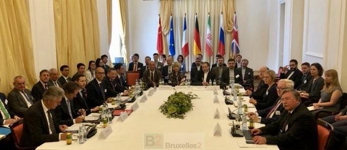 JCPOA La commission mixte du JCPOA sous présidence de la diplomate européenne Helga Schmid (crédit SEAE) reu-commissionmixtejcpoavienne@se190728