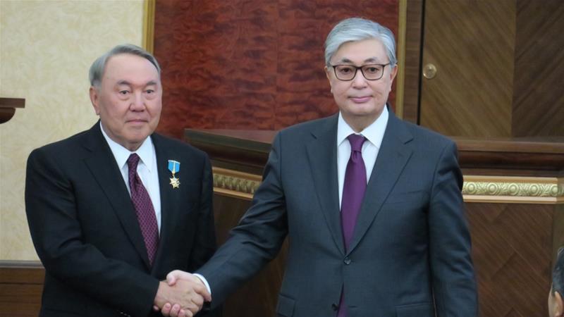 KAZAKHSTAN Kassym-Jomart Tokayev took oath as Kazakhstan's new president in the presence of his predecessor Nursultan Nazarbayev in Astana, Kazakhstan on March 20, 2019 [Anadolu]f8f88404ca11431083f6b583be7b1cbe_18