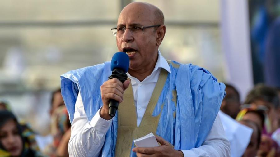 MAURITANIE Mohamed Ould Ghazouani de Mauritanie, 58012_AFP_000_1HS2NS_1561386285540