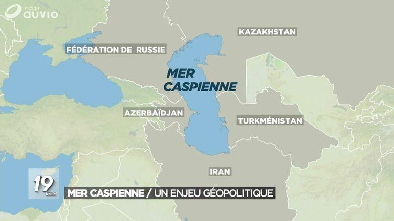 MER CASPIENNE Les négociations aboutissent le 12 août 2018 lors d'un dernier sommet présidentiel à Aqtaw, au Kazakhstan6. 8784bffe64325cc8d4b8e9696e447cd1
