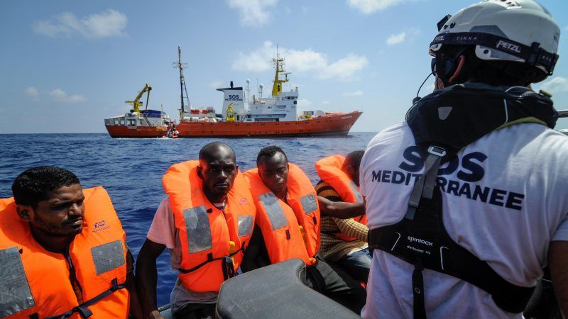 MIGRANT Rescuing people at sea is mandatory, said the chief executive officer of SOS Méditerranée Germany David Parke. [EPA-EFE Guglielmo MangiapaneSOS MEh_54551540-800x450