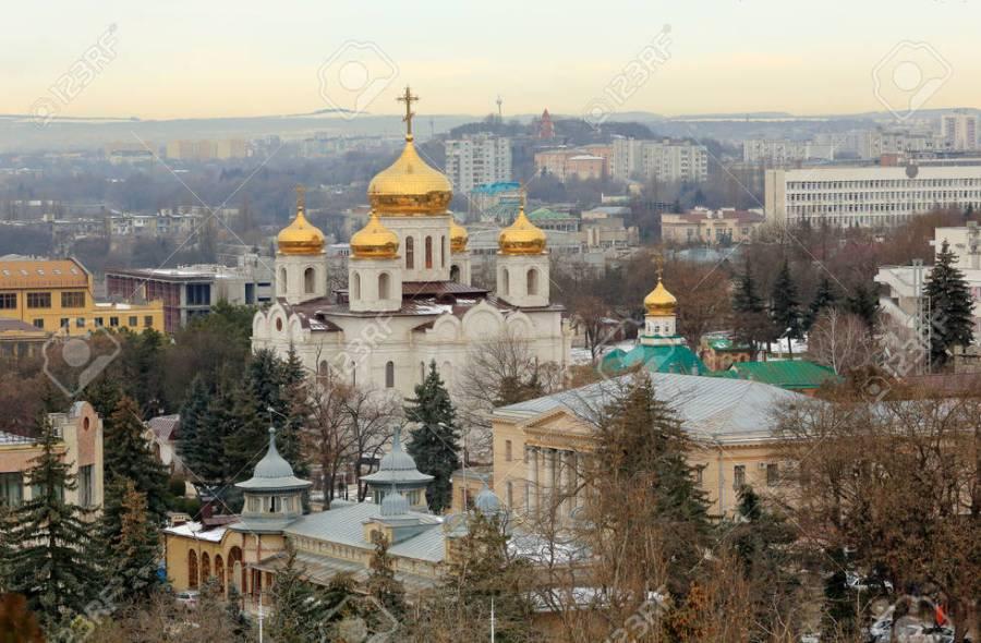 Piatigorsk, Russie, Caucase du Nord — Image de toppere.mail.ru 37250-catedral-de-salvador-en-la-ciudad-de-pyatigorsk-stavropol-krai-rusia-foto-de-archivo