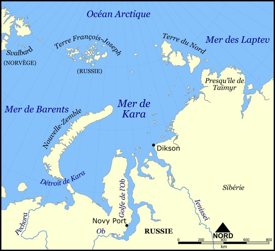 RUSSIE la péninsule du Yamal,Mer_de_Kara_(carte)