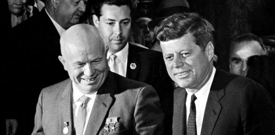 RUSSIE USA Nikita Khrouchtchev et John F. Kennedy, kennedy_2