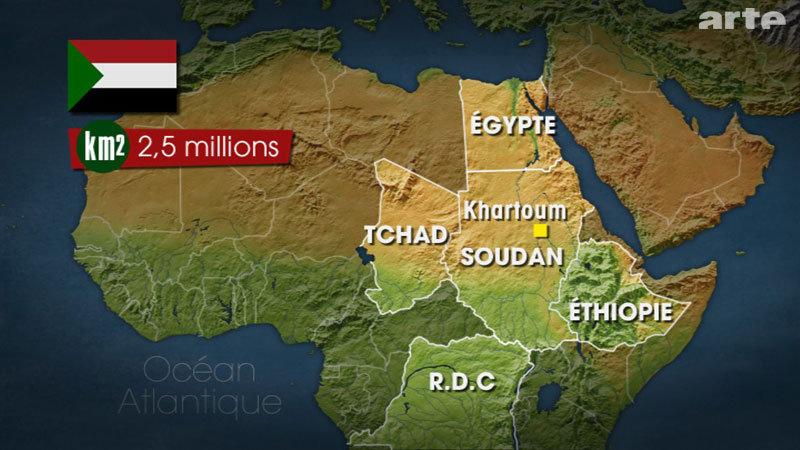 SOUDAN Carte Soudan
